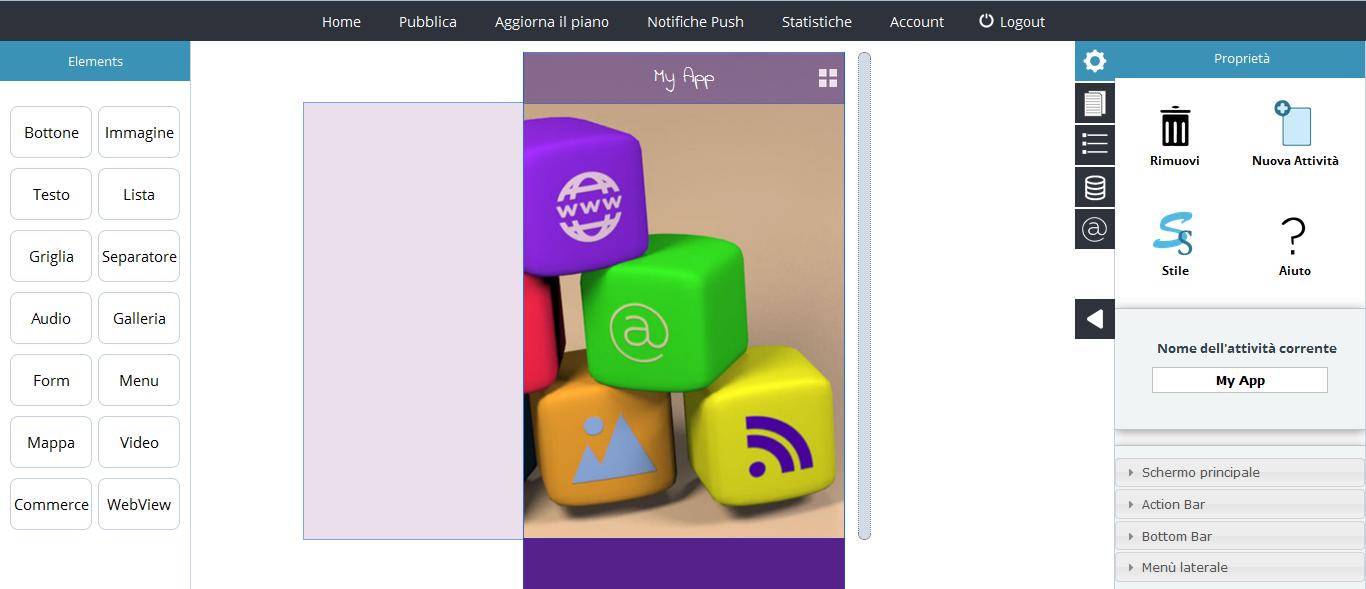 Zefiro Platform: to create app